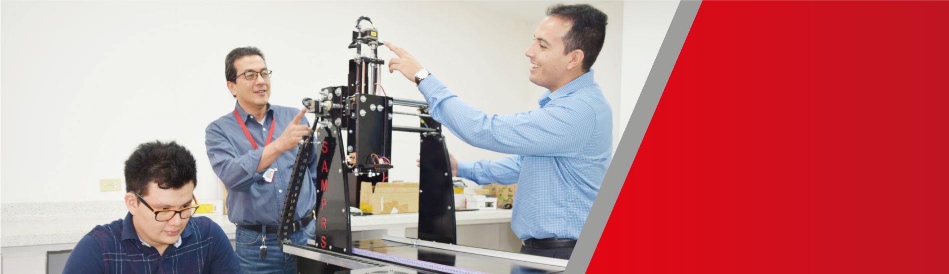 Estudiantes de Ing. Electromecánica crean prototipo con Sistema Automatizado de Medición de Planaridad Superficial