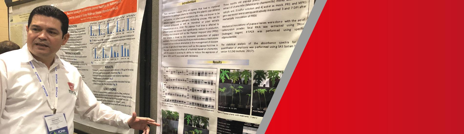 Docente UFPS presente en el XI Congreso Internacional de Patología Vegetal