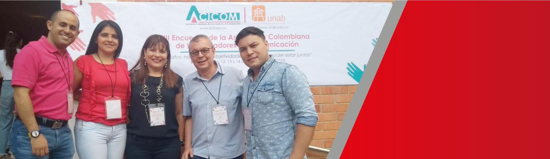 Con cinco productos, programa de Comunicación Social participó en el III Encuentro de la Asociación de Investigadores en Comunicación – ACICOM
