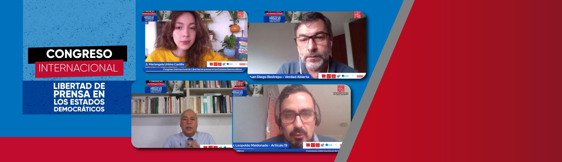 UFPS, anfitriona del Congreso Internacional de Libertad de Prensa en los Estados Democráticos