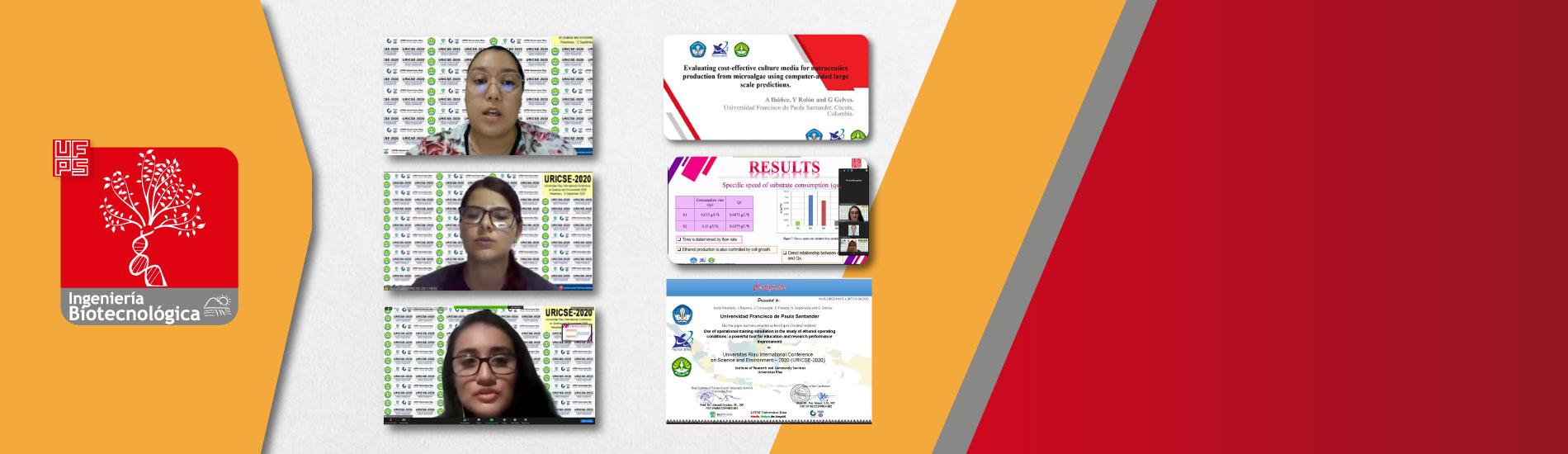 Docente, estudiantes y graduados de Ingeniería Biotecnológica presentaron investigaciones en Pekanbaru, Indonesia