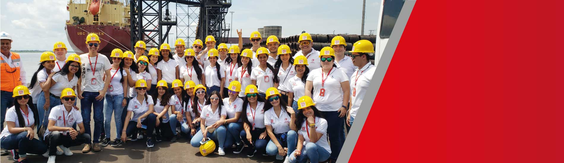 82 estudiantes de Comercio Internacional conocieron operaciones portuarias de empresas de la Costa Atlántica