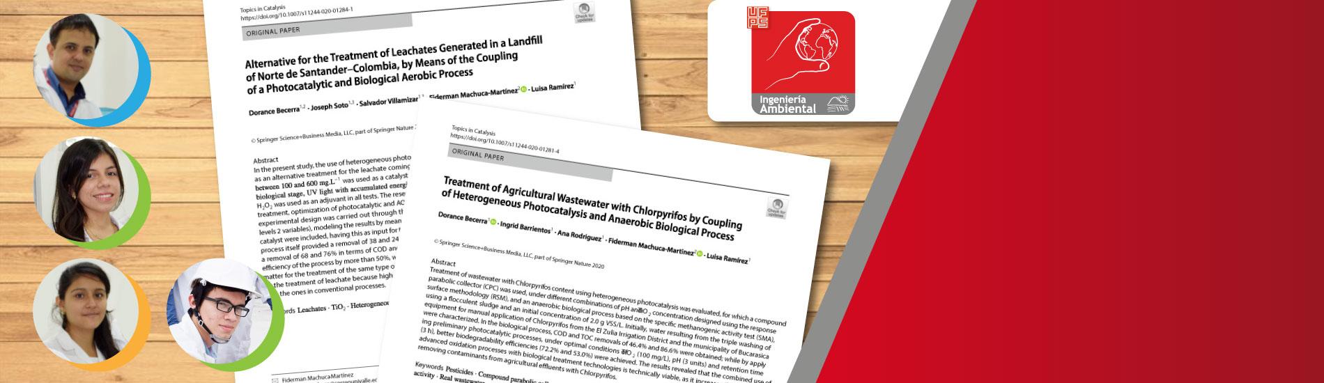Docentes y graduados de Ing. Ambiental UFPS publican dos artículos científicos en revista de Categoría A1