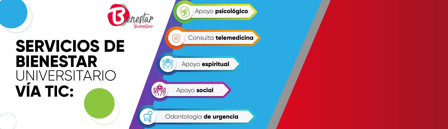 Bienestar Universitario adelanta servicios Online para enfrentar la cuarentena en casa